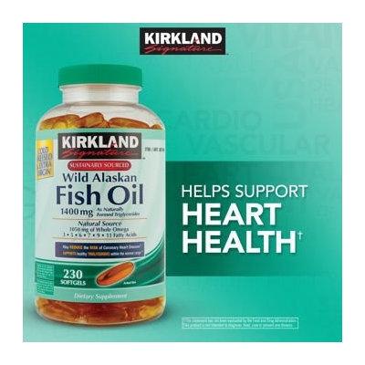 Kirkland Signature Wild Alaskan Fish Oil 1,400 mg, 230 Softgels