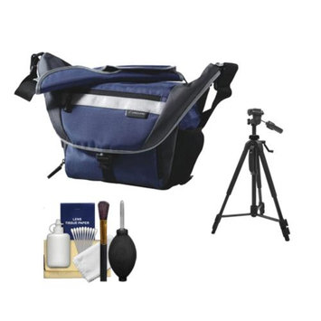 Vanguard Sydney 22 Messenger Digital SLR Camera Bag/Case (Blue) with Deluxe Photo/Video Tripod + Accessory Kit