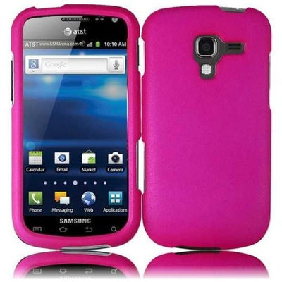 Samsung Galaxy Exhilarate i577 Rubberized Cover - Hot Pink