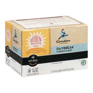 Caribou Coffee Daybreak Morning Blend Light Roasted Coffee K-Cups - 12 CT