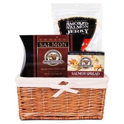 Alaska Smokehouse Alaska Smokehouse Salmon Sampler Gift Basket, 12-Ounce Packages