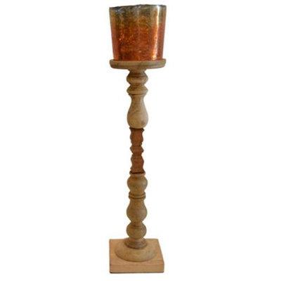Rojo 16 713-L 6 x 6 x 29 in. Brunei Mango Gold Candleholder Large