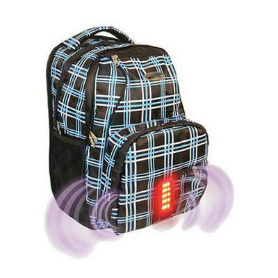 iSafe Bags Plaid Backpack with Built in Alarm - School Supplies