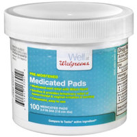 Walgreens Pre-Moistened Medicated Pads