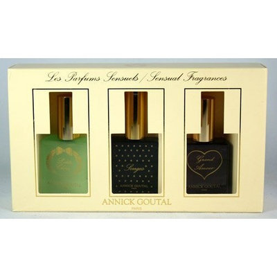 Annick Goutal Variety by Annick Goutal for Women. Set-3 Piece Variety With Petite Cherie & Songes & Grand Amour And All Are Eau De Toilette Spray .83-