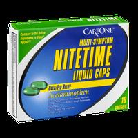 CareOne Nitetime Liquid Caps Cold/Flu Relief