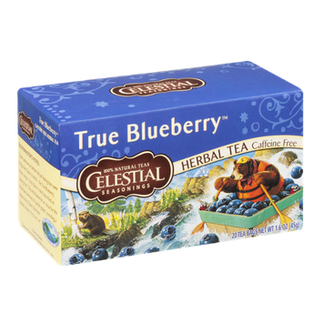 Celestial Seasonings Herbal Tea Caffeine Free True Blueberry - 20 CT