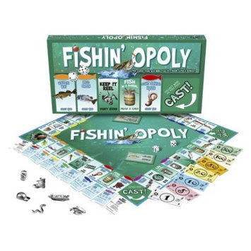 Late for the Sky Productions Late for the Sky FISHIN'-OPOLY Board Game