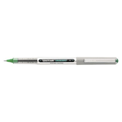 Uniball uni-ball Vision Roller Ball Stick Waterproof Pen,Fine - Green Ink (12