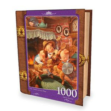 Masterpieces Puzzles Fairytales Book Box The Three Little Pigs 1000 Pcs Ages 13+