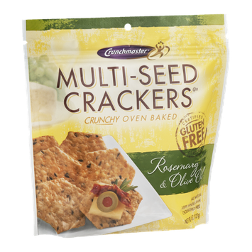 Crunchmaster Multi-Seed Crackers Gluten Free Rosemary & Olive Oil