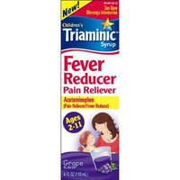 Triaminic Fever Reducer Pain Reliever, Grape, 4-Ounce (Pack of 2)