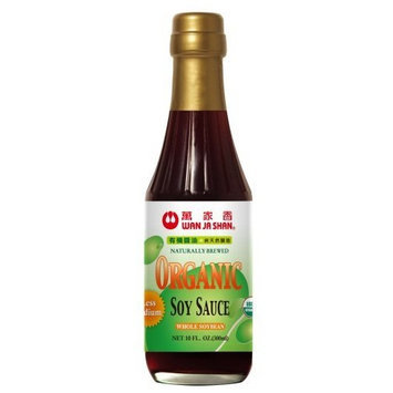 Wan Ja Shan Organic Less Sodium Soy Sauce 10oz (Pack of 12)