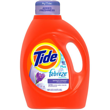 Tide 2X Ultra Liquid Laundry Detergent with Febreze Freshness