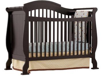 Storkcraft Baby Valentia Fixed Side Convertible Crib - Black