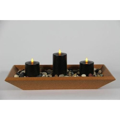 Delighted Home DH-3PPTCBL Cedar 3 Pillar Polly Trough with 1, 6 in. and 2, 4 in.