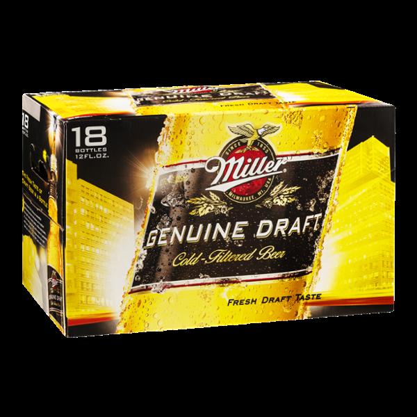 Miller Genuine Draft Beer - 18 PK