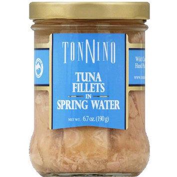 Tonnino Tuna Fillets in Spring Water, 6.7 oz, (Pack of 6)