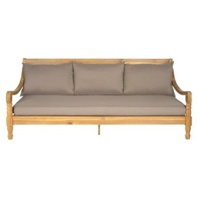 Safavieh Ferrat Wood Patio Day Bed - Brown/Gray