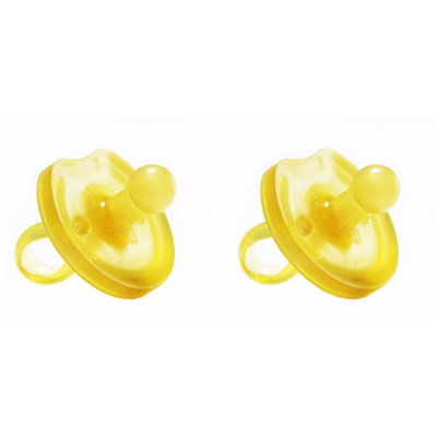 Natursutten 2 Pack BPA-Free Natural Rubber Rounded Pacifiers - 12 Months +