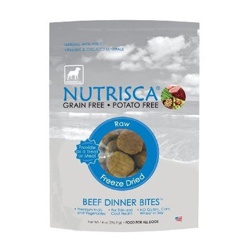 Dogswell Nutrisca Freeze Dried Dinner Bites, Beef, 14-Ounce Package