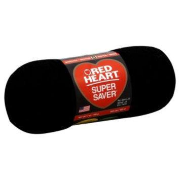 Red Heart Super Saver Yarn 312 Black 7 oz