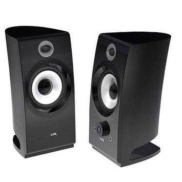 Cyber Acoustics CA-2022 2.0 Black Pedestal Speakers