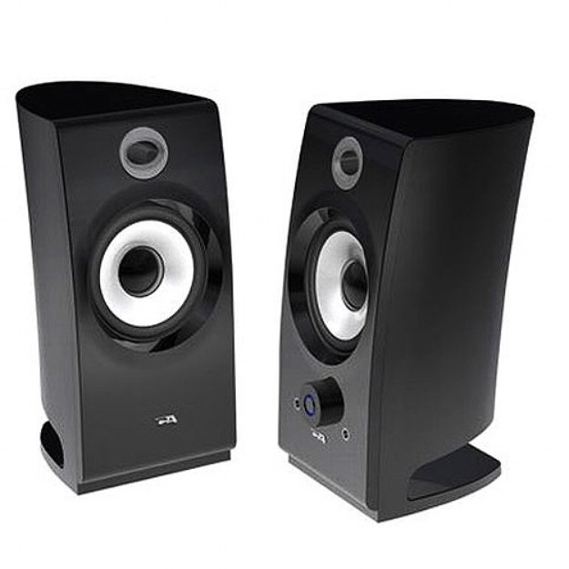 Cyber Acoustics CA-2022 2.0 Black Pedestal Speakers