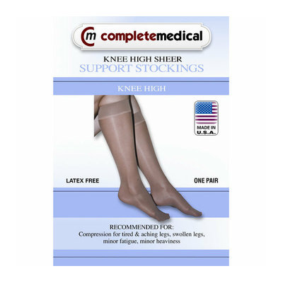 Complete Medical Ladies' Sheer Medium Support Knee High Stockings