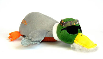 Quaker Pet Group Duck Dynasty Phil Duck Plush Dog Toy Small