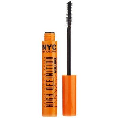 N.Y.C. York Color Mascara High Definition Volumizing Mascara, Extreme Black, 0.27 Fluid Ounce