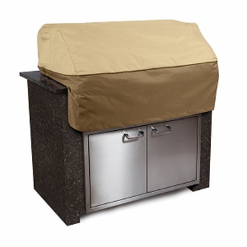 Veranda Collection Patio Island Grill Top Cover Small, Pebble, Bark and Earth, 1 ea