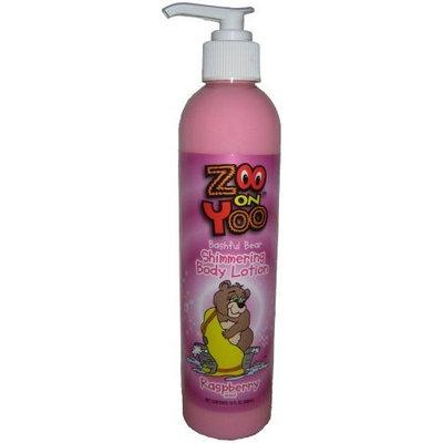 Zoo On Yoo Bashful Bear Kid's Body Shimmer Lotion - Raspberry 10 Oz Glitter Sparkle