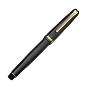 Namiki Falcon Fountain Pen Black Resin - Broad