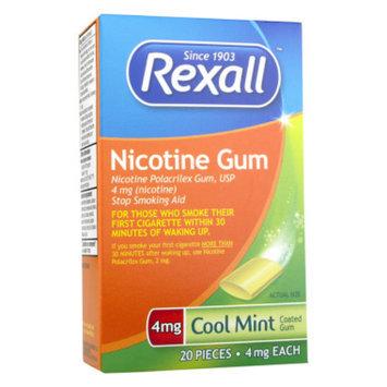 Rexall Nicotine Gum - Cool Mint, 4 mg, 20 ct