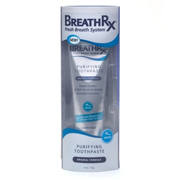 Breath Rx Toothpaste, Purifying Original, Clean Mint, 4 oz
