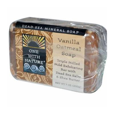 One With Nature Dead Sea Mineral Vanilla Oatmeal Soap 7 oz