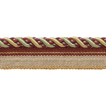 DecoPro Imperial Collection Trims Medium Gold, Wine , Mint Green 4/16