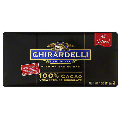 Ghirardelli Unsweetened Chocolate, 4 oz (Pack of 12)