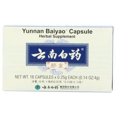Yunnan Baiyao Capsule Herbal Supplement 16 Capsules 0.25g Each Total 4g
