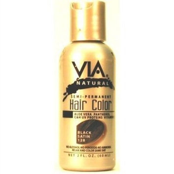 Via Natural Semi-Perm 2 oz. Color # 128 Black Satin