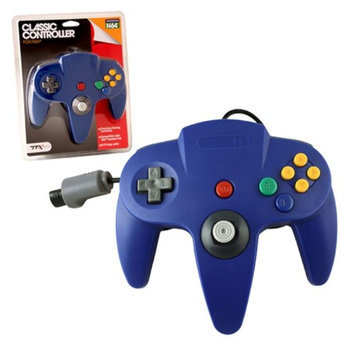 TTX Tech Wired Controller For Nintendo 64 System Blue