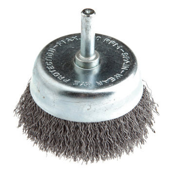 Forney 60005 Cup Brush Coarse Crimped Wire with 1/4 Inch Shank 2 1/2 Inch