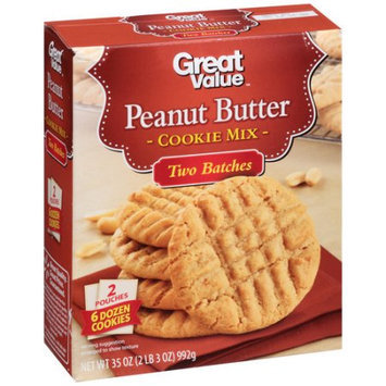 Generic Great Value Peanut Butter Cookie Mix, 35 oz
