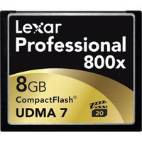 Lexar Media 8GB Professional 800x CompactFlash Memory Card - LCF8GBCTBNA800