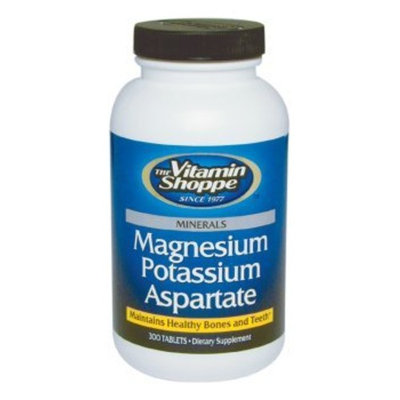 Vitamin Shoppe - Magnesium Potassium Aspartate, 300 tablets