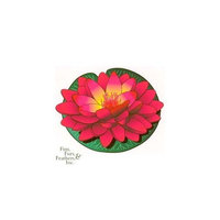 Imagine Gold Llc Imagine Gold Floating Water Lily Medium 5.5 Inch Red