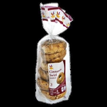 Ahold Cinnamon Swirl Bagels - 6 CT