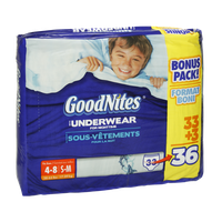 GoodNites Boys Size S-M Underwear For Nighttime - 36 CT