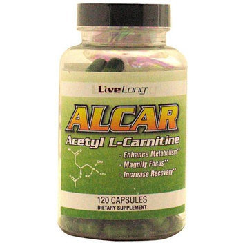Livelong Nutrition Live Long Nutrition 6980005 Alcar Acetyl LCarnitine 120 Capsules